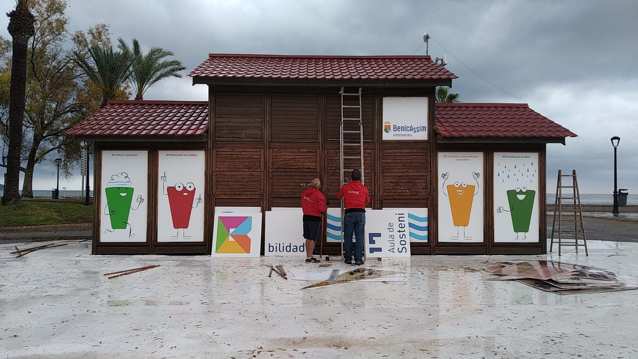 Rotulación de la primera aula junto al mar en Benicàssim para fomentar la educación ambiental 0